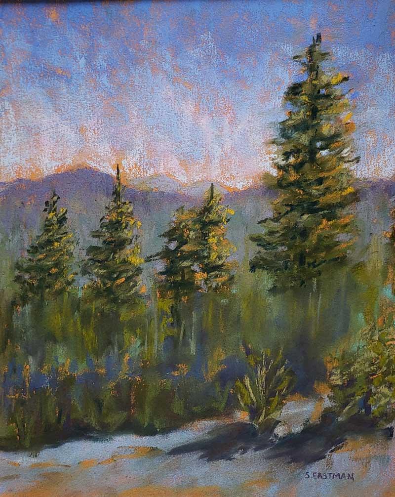 Black Cap painting by Sarah Eastman