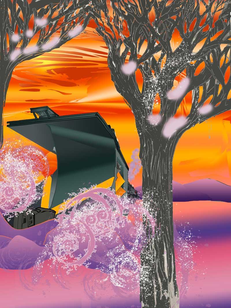 Snowplow - Digital Coloring by Isaac C. Rader