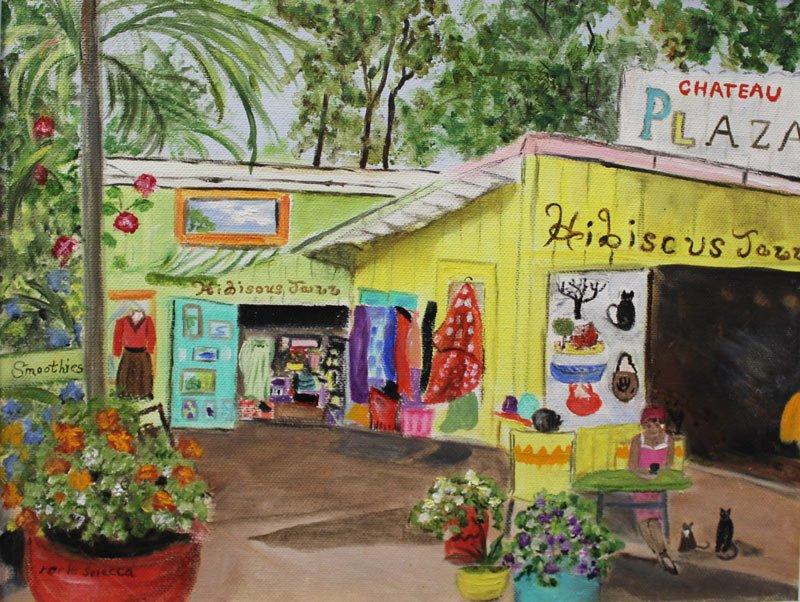 hibiscus jazz painting