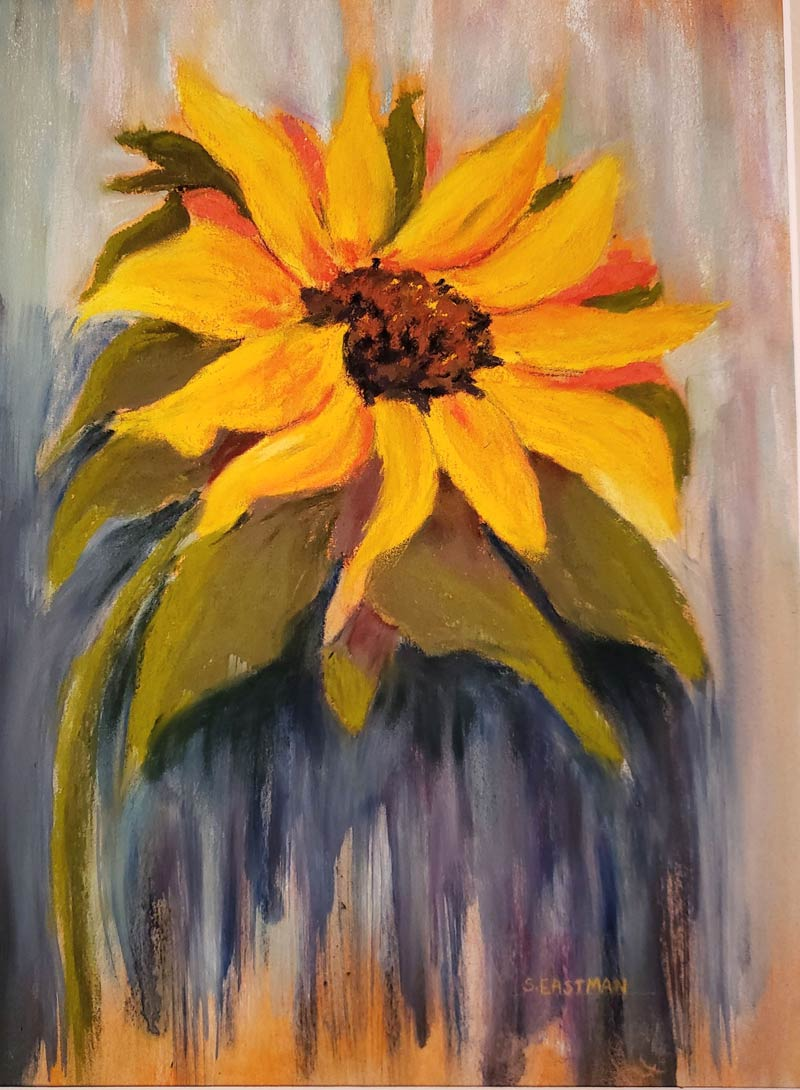 Sunflower painting by Sarah Eastman