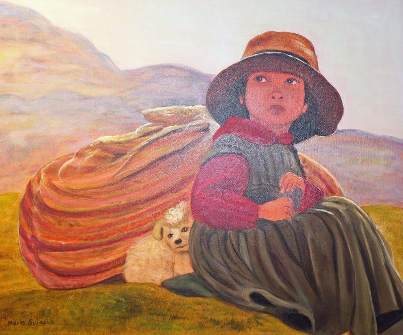 Wash Day Peru Painting