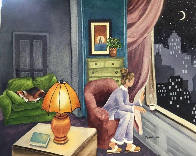 Window Pain Watercolor
