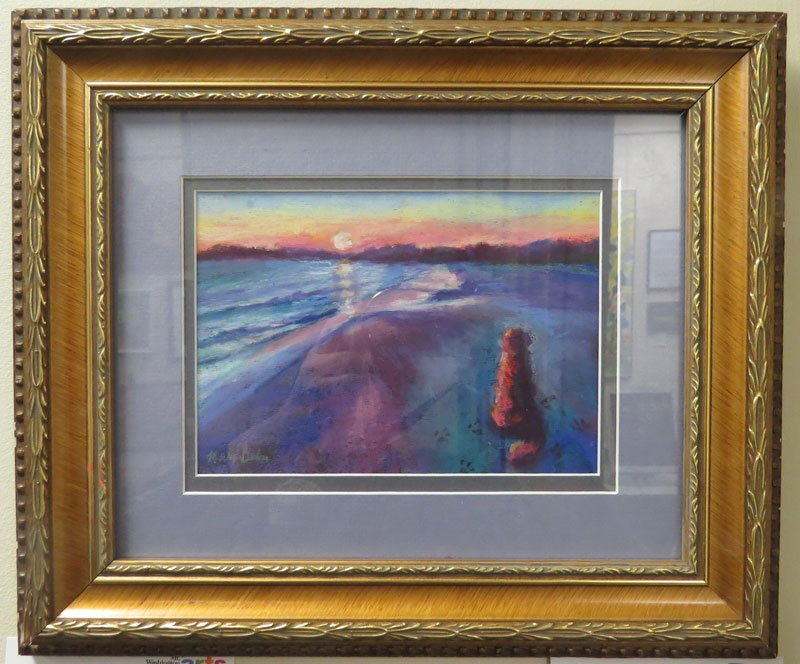 Footprints in the Sand Mary Bastoni painting
