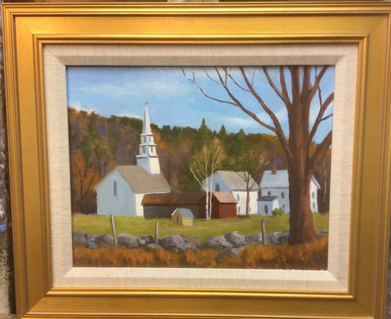 Village Church painting by Robert Gordon