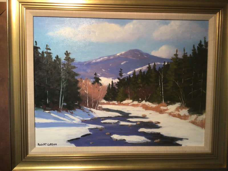 Winter on the Swift painting by Robert Gordon